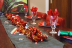 Grandma's table decorated for Christmas lunch