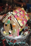 The gingerbread house Hannah and I made in November. She finally got to have a piece on Christmas day