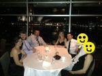 The whole gang dining at Quay. The two with smiley faces don't like being on the interwebs