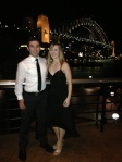 Aaron and me in front of the harbour bridge