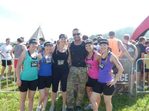 Kristina, Romana, Lauren, Commando, The Jess, and me right before our start time