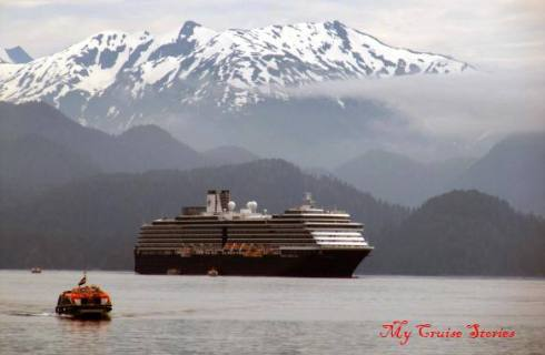 The Westerdam in Sitka.  Photo courtesy of My Cruise Stories (aka I stole it from my Mom's blog)
