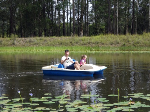 Aaron and Hannah in one of the paddle boats