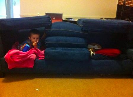 "Daniel in his ""bug house."" Rosie loves bug houses too."