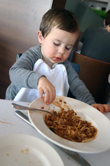 eating at the restaurant at off the proper menu