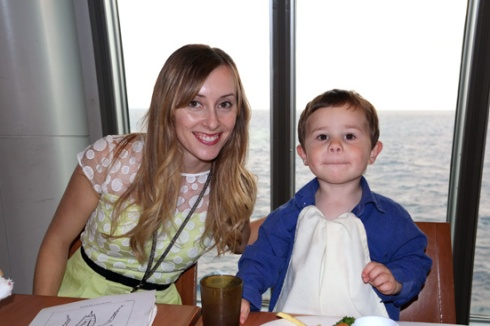 Me and Daniel at kids dinner