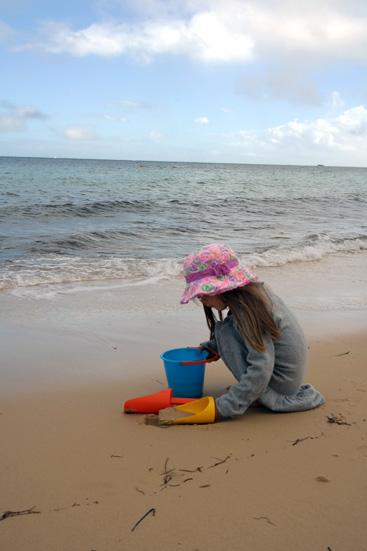 Hannah on Moreton island